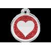 Médaille gravée pour chien et chat avec paillettes Red Dingo