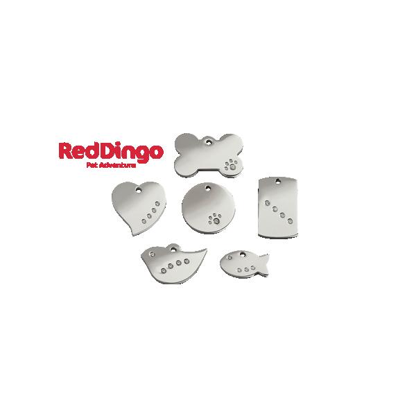 Médaille diamante gravée pour chien et chat en acier inoxydable Red Dingo