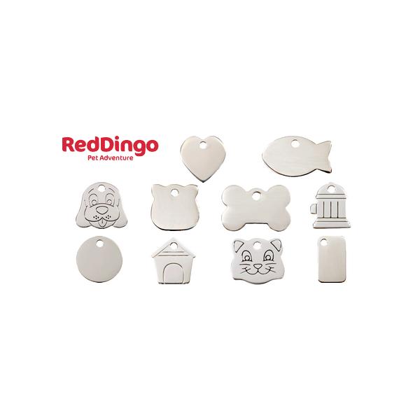 Médaille gravée pour chien et chat en acier inoxydable Red Dingo