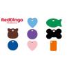 Médaille gravée pour chien et chat en plastique Red Dingo