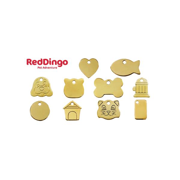 Médaille gravée pour chien et chat en laiton Red Dingo